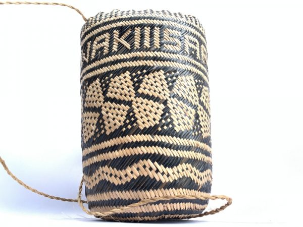 BRAND NEW Ajat / Native BASKET Woven Sling Bag Backpack Camping Traditional #3
