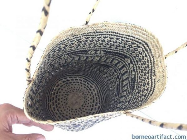 DURABLE RATTAN BAG Tote Handbag Ajat Traditional Weaving Handmade Tribal #1
