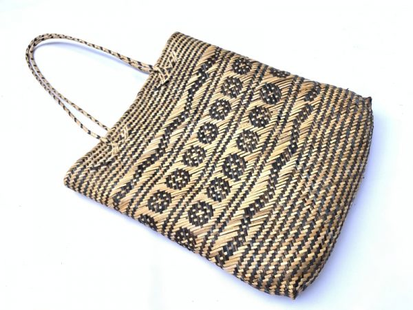 SHOULDER Traditional rattan handbag 350mm Rectangular Tote Ajat Weaving Handmade Tribal #3