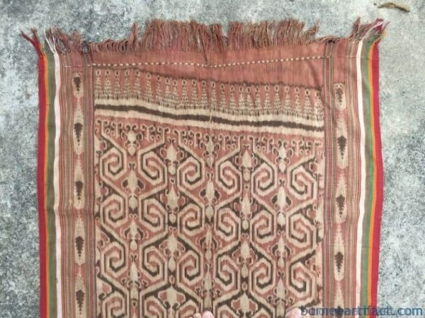 Tribal Fabric Blanket, OLD ASIAN TEXTILE 1680mm Tribal Fabric Blanket Wall Deco Traditional Fabric