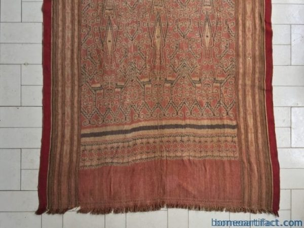 MASSIVE 2.5 meter TRIBAL TEXTILE Pua Kumbu Traditional Tribal Blanket Borneo Asia Old Authentic