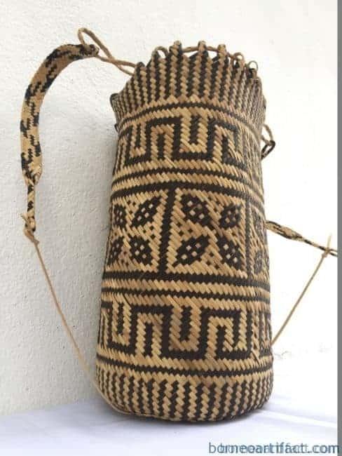 (Rosette Flower Pattern) Handmade Bag Backpack Handbag Tribal Carrier, RATTAN AJAT 360mm (Rosette Flower Pattern) Handmade Bag Backpack Handbag Tribal Carrier #2
