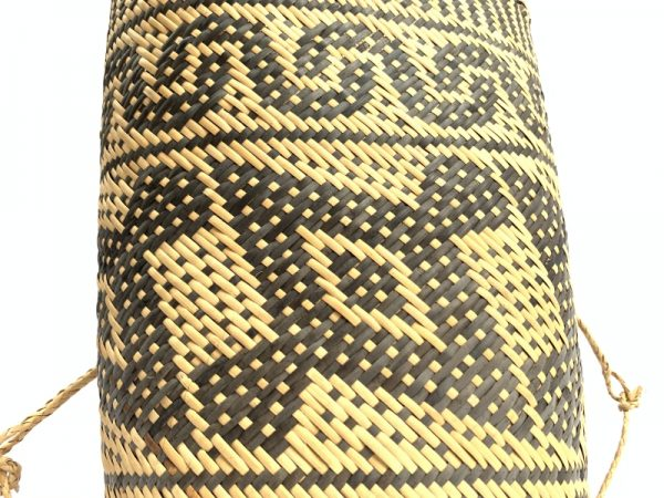 RATTAN AJAT 360mm (Hornbill Bird Pattern) Handmade Bag Backpack Handbag Tribal Carrier #4
