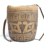 AUTHENTIC OLD BASKET 280mm Traditional Borneo Weaving Woven Fiber Art Rattan Bag #4