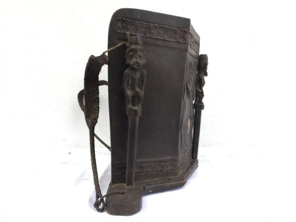 Baby Carrier, BAHAU BORNEO ARTEFACT Old Aristocratic Baby Carrier Native Tribe Child Backpack Asian Culture