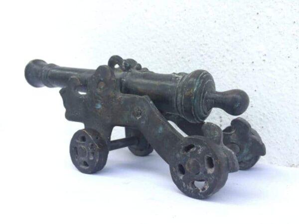 four wheel lantaka 220mm miniature cannon status monetary tender brass