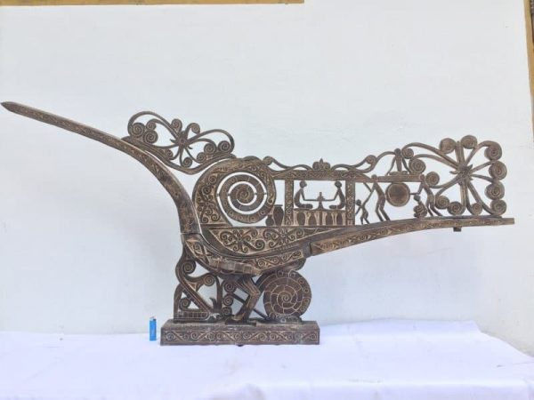 SUPERSIZE 1790mm/1.79meter BIRD SCULPTURE Travel Asia Asia Borneo Hornbill Statue Animal Figure