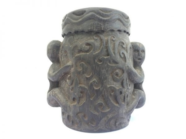 TRADITIONAL CONTAINER BOX, TRADITIONAL CONTAINER BOX 160mm Lupong Medicine Ornament Jewelry Chamber Tribal Dayak Borneo