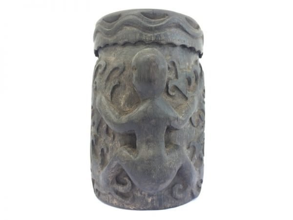 TRADITIONAL CONTAINER BOX 160mm Lupong Medicine Ornament Jewelry Chamber Tribal Dayak Borneo