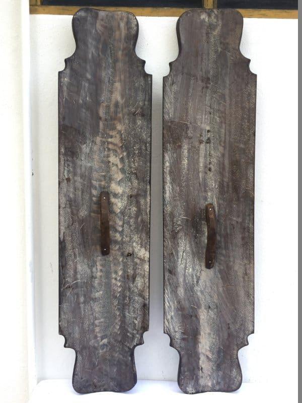WAR SHIELD BORNEO 1280mm Mega Size Armor Guard Wood Carving Wall Deco Office Home Bar