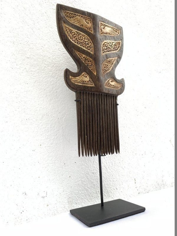 GIANT HAIRPIN HEADDRESS 320mm On Stand Tribal Jewelry Leti Indonesia Asia Asian Culture Art