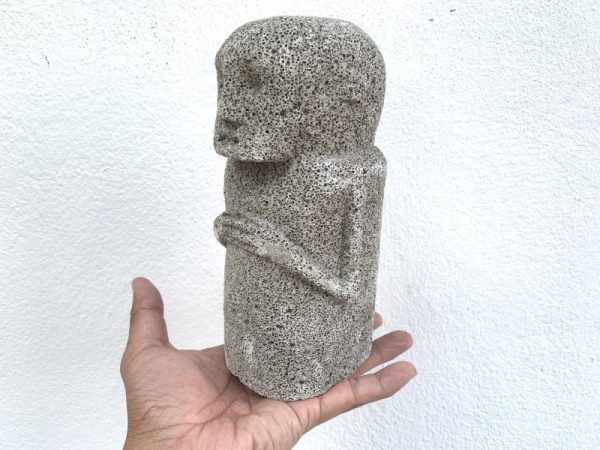 BATAK KARO 190mm FIGURE Coral Statue Sculpture Figurine Tribal Asia Asian Artifact
