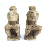 LETI INDONESIA (XXXL 1 Pair) SCULPTURE Statue Figure Figurine Tribal Art Asia Oceanic Artifact