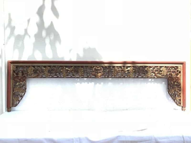Tremendous 4 Dense Flora Xxl 550 X 1960 Mm Red And Gilt Antique Panel Chinese Bed Panel Asian Art Peranakan Andrewgaddart Wooden Chair Designs For Living Room Andrewgaddartcom