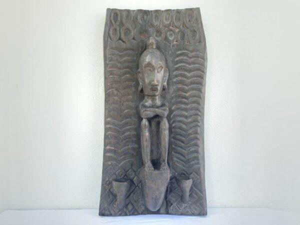INDONESIAN LETI 660mm ALTAR PANEL Ancestral Figure Statue Sculpture Asian Art Culture Wall Deco
