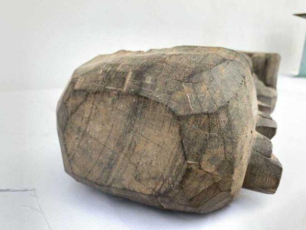 WEATHEREDANCESTRALSTATUEmmLargeDayakFigureSculptureGuardianMythicalAsia