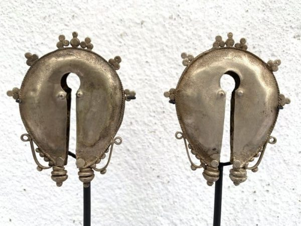 mamuli, #1 Mamuli Earring (165mm On Stand) One Pair Old Ear-weight Body Adornment Jewel Jewelry