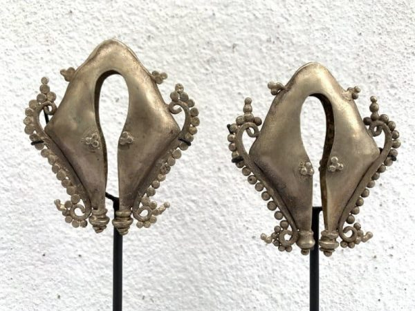 jewel, #2 Mamuli Earring (165mm On Stand) One Pair Old Ear-weight Body Adornment Jewel Jewelry