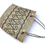 Traditional Rattan Shoulder Bag 310x290mm Rectangular Tote Handbag Ajat Weaving Handmade Tribal #6
