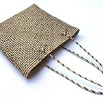 Traditional Rattan Tote Bag 320x310mm Rectangular Shoulder Handbag Ajat Weaving Handmade Tribal #7
