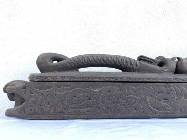 Aristocrat Tribal Container 970mm Giant Sword Box Jewelry Medicine Documents Keeper Borneo