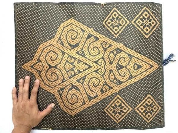 Rattan Panel 550 x 470 mm Wall Hanging Decor Fiber Art Weaving Woven