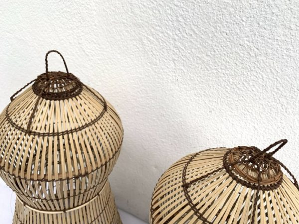 Fish Trap (ONE PAIR) Lamp Decoration Tribal Home Architecture Lure Bait Trap Outdoor Fishing