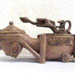 Herb Container 270mm Box Keeper Medicine Jewelry Batak Statue Figure Figurine Tribal Asia