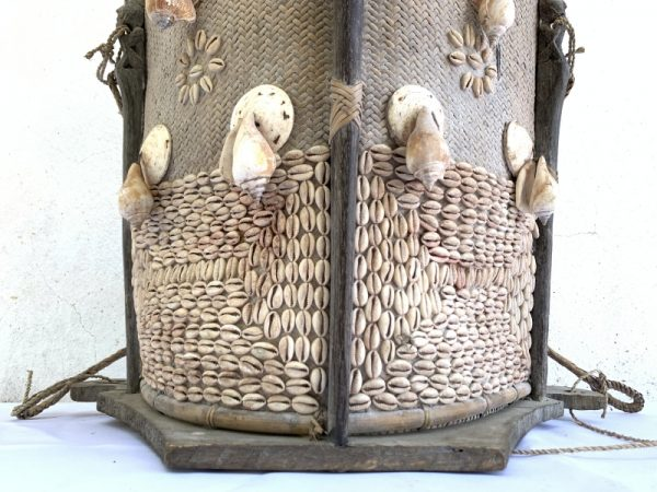 INFANT CARRIER 460mm Traditional Child Backpack Tribal Asia Rattan Seashell Wall Home Office Deco